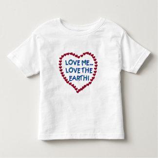 私を愛地球のTシャツおよびギフト愛して下さい トドラーTシャツ