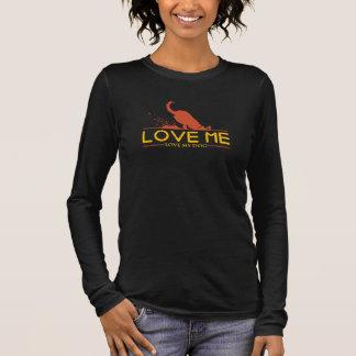私を愛私の犬愛して下さい 長袖Tシャツ