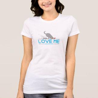私を愛私の犬愛して下さい Tシャツ