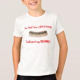私を持っています悪い態度を考えます Tシャツ