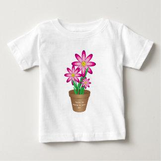 私を救済するためのありがとうは-幸せな花を育てます ベビーTシャツ