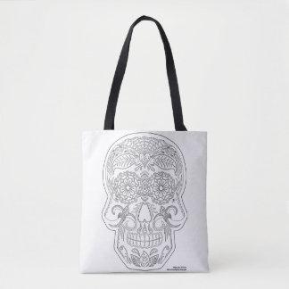私を死んだ砂糖のスカルの禅の芸術の日着色して下さい トートバッグ