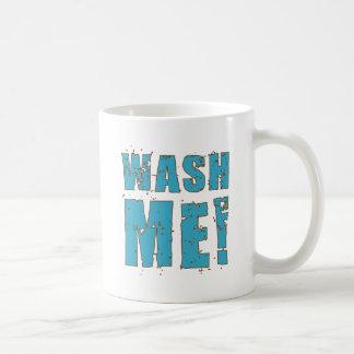 私を洗浄して下さい! コーヒーマグカップ