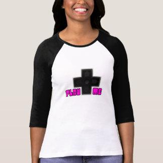 私を演じて下さい! 女の子のゲーマーのTシャツ Tシャツ