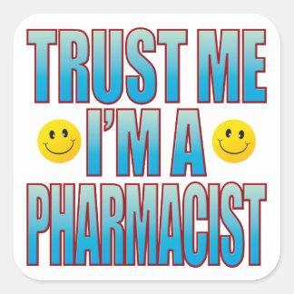 私を薬剤師の生命B信頼して下さい スクエアシール