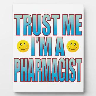 私を薬剤師の生命B信頼して下さい フォトプラーク