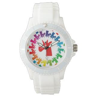 私を虹のユニコーンの腕時計着色して下さい 腕時計