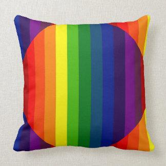 私を虹(ストライプのなデザイン)の~着色して下さい クッション