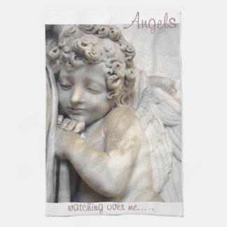 私を見る天使ベニスの彫刻タオル キッチンタオル