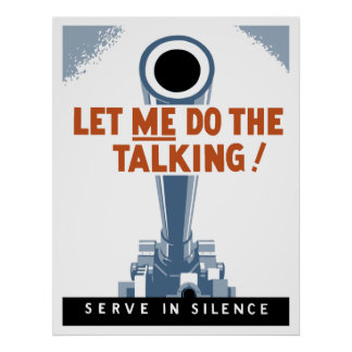 私を話すことをすることを許可して下さい! 沈黙で役立って下さい ポスター