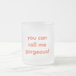 私を豪華電話できます! フロストグラスマグカップ