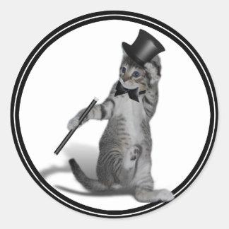 私を踊りのように感じさせます! タップダンス猫 ラウンドシール
