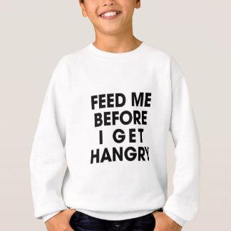 私を食べ物を与えて下さい スウェットシャツ