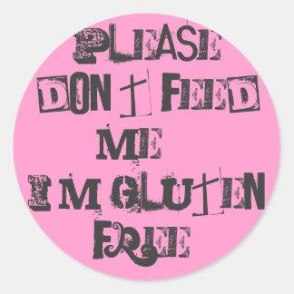 私を食べ物を与えないで下さい…私が自由にグルテンの! ラウンドシール