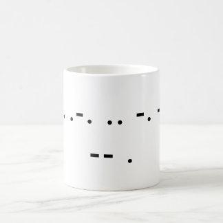私を飲んで下さい(モールス) コーヒーマグカップ