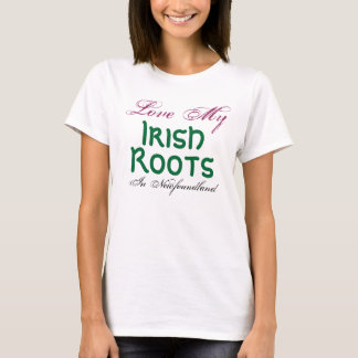 私を、アイルランド語、ニューファウンドランドの根、愛して下さい Tシャツ
