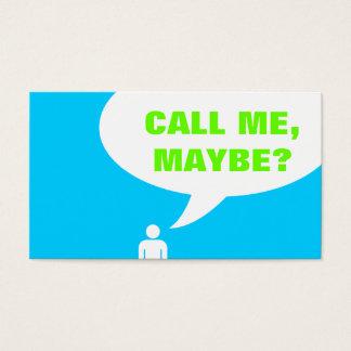 私を、多分電話して下さいか。 スピーチの泡(カスタマイズ可能な色) 名刺