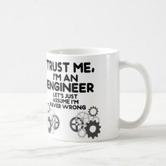 私を、私ありますおもしろいなエンジニアが信頼して下さい コーヒーマグカップ