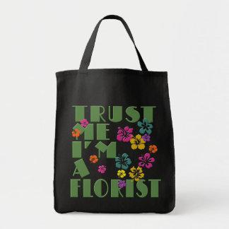 私を、私ありますハイビスカスを持つ花屋が信頼して下さい トートバッグ