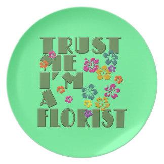 私を、私ありますハイビスカスを持つ花屋が信頼して下さい プレート