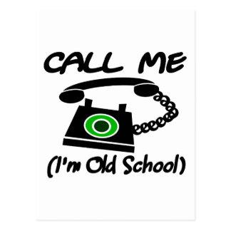 私を、私ありますレトロの電話が付いている古い学校が電話して下さい ポストカード