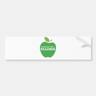 私を、私あります先生の緑Appleが信頼して下さい バンパーステッカー