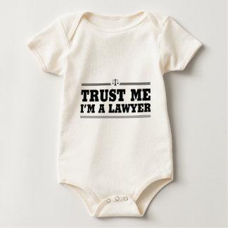私を、私あります弁護士が信頼して下さい ベビーボディスーツ