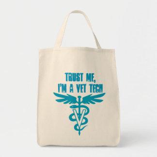 私を、私あります獣医の技術が信頼して下さい トートバッグ