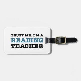 私を、私あります読書先生が信頼して下さい ラゲッジタグ