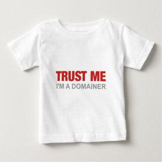 私を、私ありますdomainerが信頼して下さい ベビーTシャツ