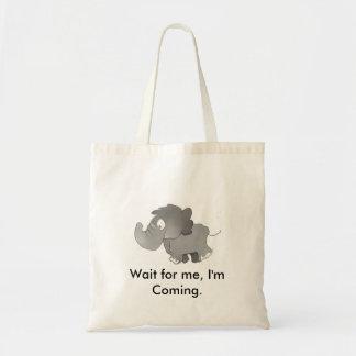 私を、私来ていますバッグを待って下さい トートバッグ