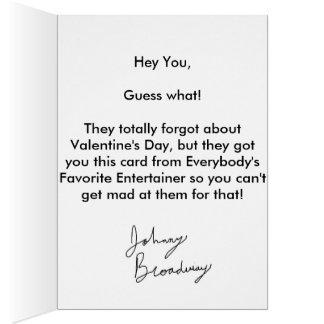 """私を""""Oops買って下さい! 私はバレンタインデーカードを""""忘れました! カード"""