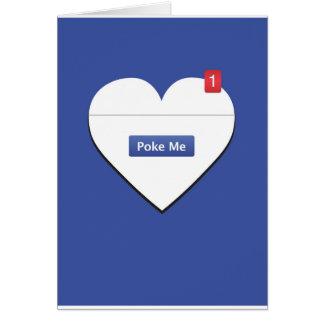 私をFBのバレンタインカード突いて下さい カード