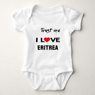 私をI愛エリトリア信頼して下さい ベビーボディスーツ