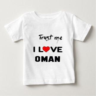私をI愛オマーン信頼して下さい ベビーTシャツ