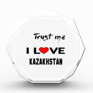 私をI愛カザフスタン信頼して下さい 表彰盾