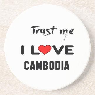 私をI愛カンボジア信頼して下さい コースター