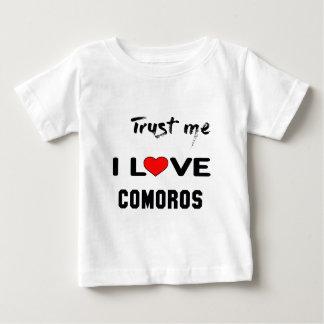 私をI愛コモロ信頼して下さい ベビーTシャツ