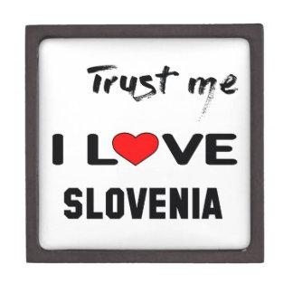 私をI愛スロベニア信頼して下さい ギフトボックス