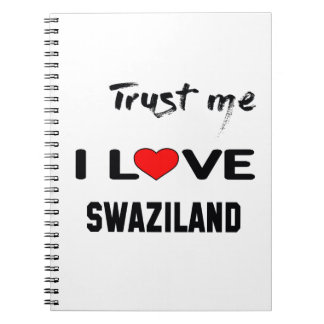 私をI愛スワジランド信頼して下さい ノートブック