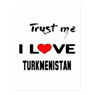 私をI愛タキマンニスタン信頼して下さい ポストカード