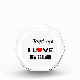 私をI愛ニュージーランド信頼して下さい。 表彰盾