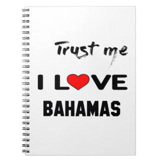私をI愛バハマ信頼して下さい ノートブック