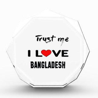 私をI愛バングラデシュ信頼して下さい 表彰盾