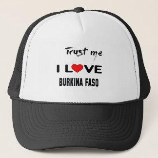 私をI愛ブルキナファソ信頼して下さい。 キャップ
