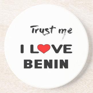 私をI愛ベニン信頼して下さい コースター