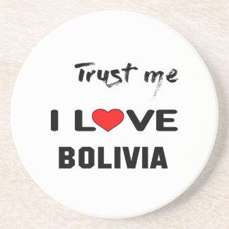 私をI愛ボリビア信頼して下さい コースター
