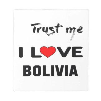 私をI愛ボリビア信頼して下さい ノートパッド