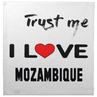 私をI愛モザンビーク信頼して下さい ナプキンクロス