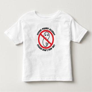 私ピーナツアレルギーの幼児のTシャツを食べ物を与えないで下さい トドラーTシャツ